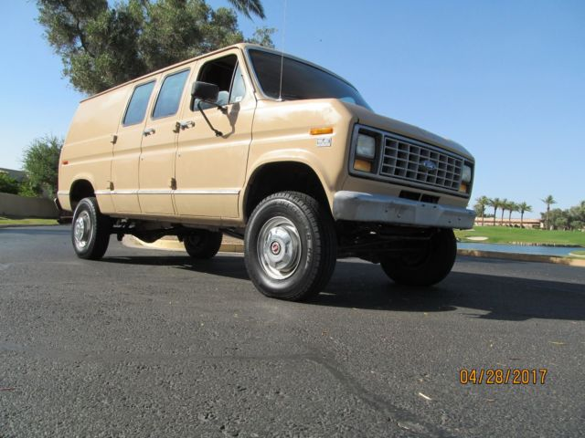 1991 Ford Econoline E350 Quigley 4x4 Must Look Inside 15k Miles NO RESERVE AZ