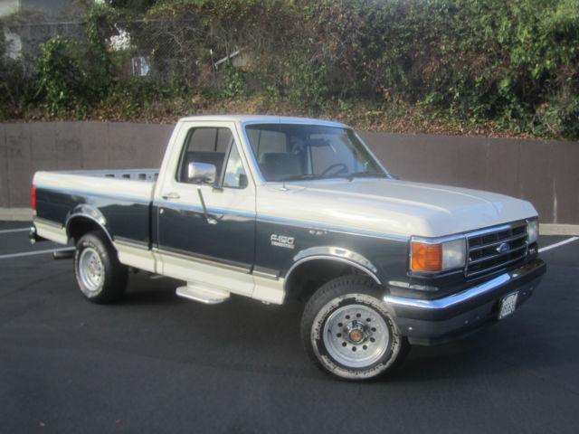 1991 ford f 150 xlt lariat shortbed 5 8l rust free 100 890 orig miles. Black Bedroom Furniture Sets. Home Design Ideas