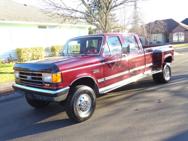 1991 ford f350 4x4 crew cab dually long bed 1992 1993 1994. Black Bedroom Furniture Sets. Home Design Ideas