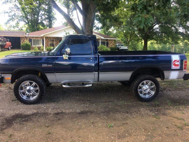 1992 Dodge W250 D250 4x4 Cummins Diesel Ram 2500