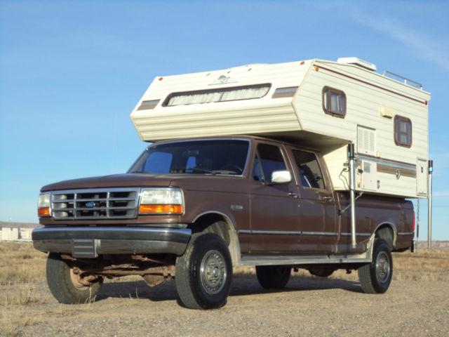 1992 Ford F350 XLT 4WD Crew Cab Grampa's Truck RV Camper ...