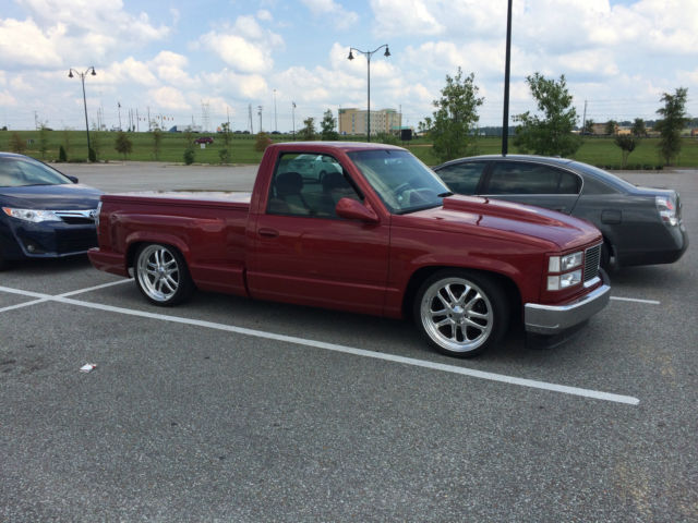 1993 GMC Sierra Stepside Customized Lowered Bed Cover Custom Interior