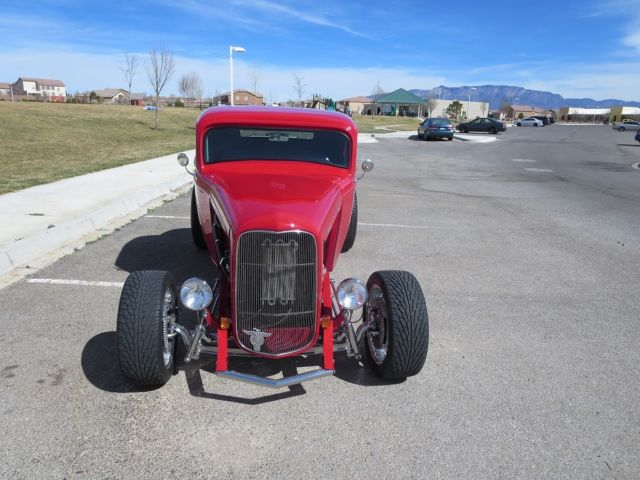 32 ford 3 window coupe milano red gray zz4 385 hp show me