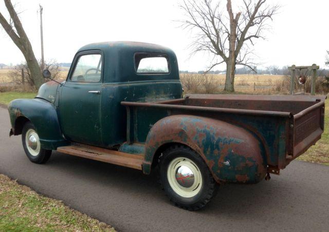 Barn Find 1950 Chevrolet 3100 1 2 Ton Pickup Truck 1947