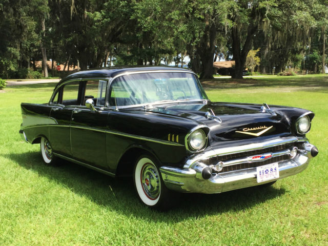 Beautiful 1957 chevrolet chevy bel air 4 door sedan resto for 1956 chevy 4 door for sale