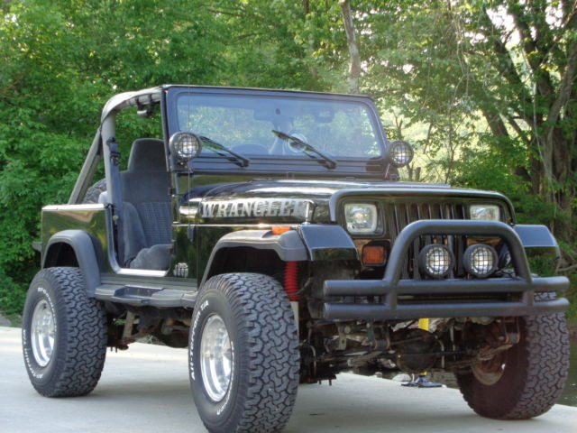 black jeep yj wrangler ford 5 0 mustang 4 speed hot rod