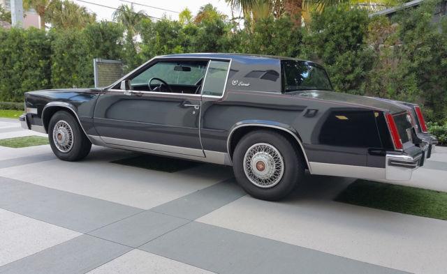 Black On Black 1984 Cadillac Eldorado One Prior Owner Very