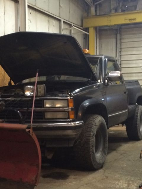 chevy plow truck k1500 4x4 shortbed stepside