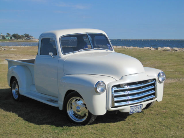 Classic 1953 chevy gmc 5 window pickup truck rare pearl white for 1953 gmc 5 window