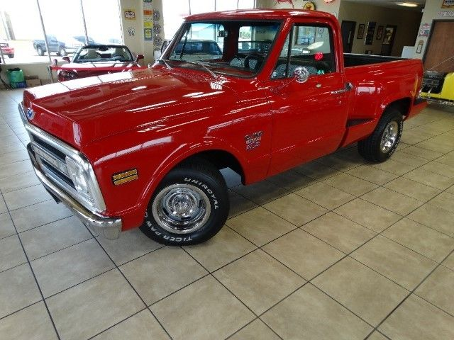 Factory Short Bed 1968 C10 350v8 Air Conditioning Step Side Bed