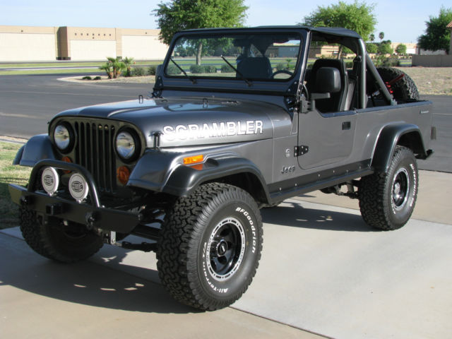 Jeep Cj Cj Scrambler Frame Off Restoration L Mopar Fuel Injected Gray on Jeep Inline 6 Crate Engine