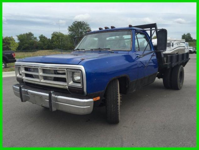 Used 89 Dodge D350 Flatbed Pickup Work Diesel Truck 5